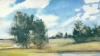 Michael Goodwin, Bar Harbor Landing, oil on paper on panel, 3.75 x 6.5 inches, 2