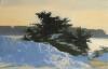 Marilyn Turz, Looking Toward Banfi, oil on wood, 8 x 12 inches, 2014 (courtesy o