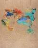 George Hofmann, Codex Major 1, 2012, acrylic on birch board, 48 x 38 inches (cou