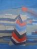 Kayla Mohammadi, Dusk, 2011, Acrylic on wood, 16 x 12 inches