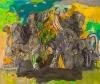 Alfredo Gisholt, Vienen los pajaros, oil on canvas, 72 x 84 inches, 2013 (court