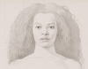 detail, Kurt Kauper, Study for Woman 4, 2017, graphite on paper, 