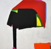 Paul Behnke, Robert Taylor's Helmet, 2013, acrylic on canvas, 48 x 50 inches (co