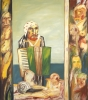 John Bellany. Self Portrait with Accordion 1974. 173 x 153 cm, oil on canvas. ©