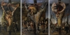 John Bellany, Allegory 1964, oil on hardboard (triptych) © the Artist / Bridgem