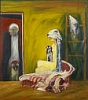John Bellany, Lap Dog, about 1973, oil on canvas © the Artist / Bridgeman Art Li