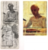 Pierre Bonnard, Self Portrait in a Shaving Mirror, 1935 (Centre Georges Pompidou, Paris) and studies by Sargy Mann (Sargy Mann estate)