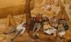 (detail) Pieter Bruegel the Elder, The Harvesters, 1565, oil on wood (Metropolitan Museum of Art)