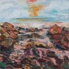 Bernard Chaet, Bass Rocks, 2001-02, oil on canvas, 18 in x 18 inches (courtesy o