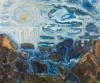 Bernard Chaet, The Sun, oil on canvas, 32 in x 38 inches (courtesy of LewAllen G