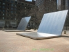 David von Schlegell, Untitled Landscape, 1964, Stainless Steel, 15'x15'x17' Harb