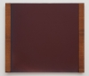 David von Schlegell, Dark Red Over Blue, 1991, Oil, Polyur on Aluminum with Wood