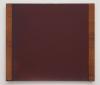 David von Schlegell, Dark Red Over Blue, 1991, Oil, Polyur on Aluminum with Wood
