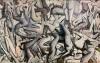 Vincent Desiderio, Theseus II,  2017, oil on canvas, 72 x 112 inches (© Vincent Desiderio, courtesy Marlborough Gallery, New York)