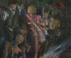 Maud Gatewood, Jungle Rituals, s/d 1987, acrylic on canvas, 60 x 72 inches (Weat