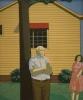 Maud Gatewood, Genre II, 1966, acrylic on plywood, 48 x 40 inches (Weatherspoon