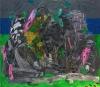 Alfredo Gisholt, Los ríos acuden, oil on canvas, 84 x 96 inches, 2014 (courtesy
