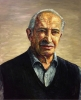 Jon Imber, Portrait of Harold Imber, 1982, oil on canvas, 66 x 54 inches (courte