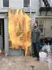 Ben La Rocco, Saturn Evolution, 96 x 48 inches, oil on masonite, 2015 (courtesy