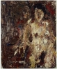 Eugène Leroy, Marina nue, 1997, oil on canvas, 39 1/4 x 32 inches (courtesy of M