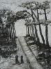 Craig Manister, Path with Figures and Trees, 2007, oil on linen, 48 x 36 inches