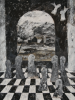 Craig Manister, Italian Dream with Arched Window, 2007, oil on linen, 48 x 36 in