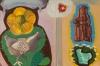 Megan Marlatt, Cacarear, 2012, goauche on paper, 17 x 11 inches(courtesy of the