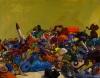 Megan Marlatt, Under the Watchful Eye of the Elephant, 2006, acrylic and oil on