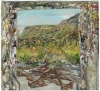 Nick Miller, Steel Yard and Mountain I, 2011, oil on linen, 56 x 61 cms (courtes