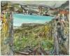 Nick Miller, Steel Yard and Mountain III, 2011, oil on linen, 41 x 51 cms (court
