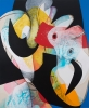 Carrie Moyer, Hook, Line & Sinker, 2012, acrylic, graphite, glitter on canvas, 7