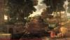 Nicolas Poussin, A Roman Road, detail, video screen capture