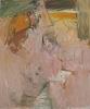 Pat Passlof, Score for a Bird, 1958, oil on linen, 72 x 60 inches (courtesy of E