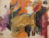 Pat Passlof, Untitled, circa 1950s, oil on paper, 21 1/2 x 28 inches (courtesy o