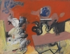 Pat Passlof, Coliseum, 1955, oil on paper mounted on canvas, 17 x 22 inches (cou