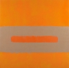 Perle Fine, Cool Series, (Tan over Orange), ca. 1961-1963  Oil on canvas, 50 x 5