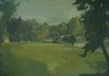 Brian Rego, Millwood Field, 2013, oil on board, 14 × 20 inches (courtesy of the