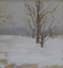 Neil Riley, Winter Grey, 2010, oil on panel, 8 × 8 inches (Private collection)