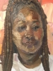 Sedrick Huckaby, Square Portrait (detail)