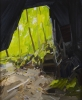 Claire Sherman, Cave and Trees, 2011, oil on canvas, 96 x 78 inches (courtesy of