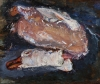 Chaim Soutine, Plucked Goose, 1932-1933, oil on panel, Private Collection (court