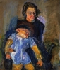 Chaim Soutine, Maternity, ca 1942, tempera on canvas, 25 x 21 inches (Private co