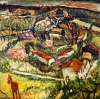 Chaim Soutine, Landscape with Donkey, ca. 1918, 23 x 23 inches (Private collecti