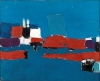 Nicolas de Staël, Méditerranée, Le Lavandou, 1952, oil on canvas, 25 5/8 by 31 7