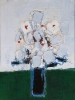 Nicolas de Staël, Fleurs dans un vase bleu, 1953, oil on canvas, 28 3/4 by 21 1/