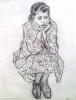 Clyfford Still portrait of a girl, charcoal on paper, © Clyfford Still Museum