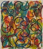 Philip Taaffe, Enchiridion, 2014, mixed media on canvas, 80 1/4 x 71 5/8 inches