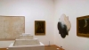 Twombly and Poussin: Arcadian Painters, installation detail, video screen captur