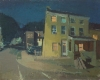 Peter Van Dyck, Cotton Street at Night, 2013, oil on linen, 24 × 30 inches (cour