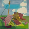 Shane Walsh, Reconstructed Afternoon, 2010, oil on canvas, 29 x 29 inches (court